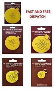 PLATE DISC INVISIBLE PICTURE HANGING BACK STICK ON HOOK HANGER SELF ADHESIVE NEW