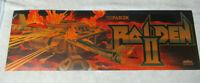 "original RAIDEN 2 FABTEK  23 7/8-7 3/4"" arcade video game sign marquee cF36"