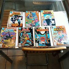 7 VINTAGE 1980'S D.C. COMIC BOOKS 80'S LEGION OF SUPER HEROES ARAK WILD DOG MASK