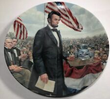 The Gettysburg Address 1986 Commemorative Plate Knowles With Coa And Box