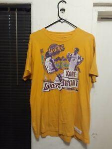Mitchell & Ness Kobe Bryant rap tee Short Sleeve yellow NBA T Shirt RIP Lakers