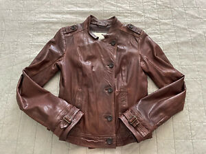 Abercrombie & Fitch Women's Leather Jacket, Size L