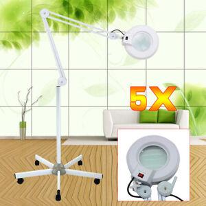 22W Kosmetik-Lupenleuchte 5-Dioptrien LED Beauty Salon Lupenlampe mit Stativ