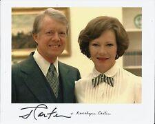Hand Signed 8x10 photo JIMMY CARTER & ROSALYNN CARTER - USA PRESIDENT + my COA