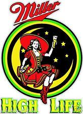 """2 Miller High Life 14"""" Cornhole Vinyl Decals Stickers Baggo Toss Beer liquor"""