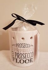 Prosecco Themed Fragranced Oil Burner Set - Burner, Tea Light & 3 Wax Melts