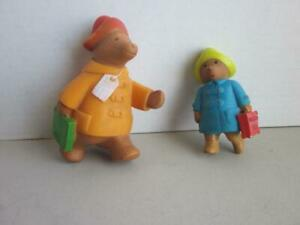 Vintage Eden 1976 and 1980 Paddington Bear  Figures 4 and 5 inches tall