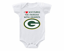 Green Bay Packers I Love Watching With Grandpa Baby Onesie or Tee Shirt
