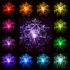 One Solar Powered 3D Snowflake,Garden Yard Decor Stake Light,Color Changing Led