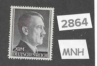 #2864    Very Nice MNH 2RM Adolph Hitler Third Reich stamp / 1942-1944 /  Sc525