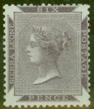 Sierra Leone 1859 6d Dull Purple SG1 Fine Very Fresh Lightly Mtd Mint
