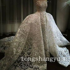 New Custom Detachable Train Bridal Gown Strapless Cathedral Luxury Wedding Dress