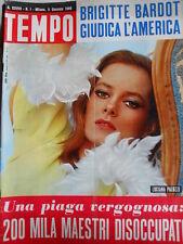 TEMPO n°1 1966 Catherine Deneuve - Brigitte Bardot - Nenni e Mussolini  [C88]