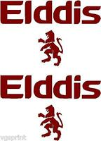 ELDDIS CARAVAN  DECALS STICKERS CHOICE OF COLOURS CAN BE MADE IN ANY SIZE #007