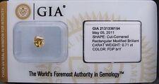 GIA Cert 0.71ct RADIANT cut diamond NATURAL FANCY DEEP BROWNISH YELLOW  , Sealed