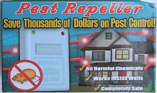 2 Pack Pest Repellent Mice Rats Rats Rodent Ants Spiders Roaches plugin Electric