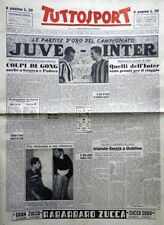 TUTTOSPORT  12 novembre 1949 _calcio le partite d'oro JUVENTUS - INTER