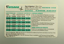 Transavia Airlines Della Compagnia Aerea Timetable (tabella Orari)