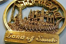 ATTENTION ! THAILAND 'Land Of Smile' Metal KeyChain Key Chain Ring Keyfob GIFT
