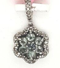 Natural Alexandrite .42tcw Diamond .15tcw designer 14k white gold pendant NWOT