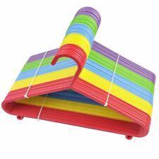 60 x Multi Coloured Children Kids Plastic Coat Hangers Child Baby Clothes Hanger