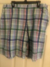 Alfred Dunner Plaid Shorts Size 20 MSRP 40