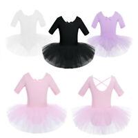 Princess Girls Ballet Dance Tutu Dress Gymnastics Leotard Ballerina Dancewear