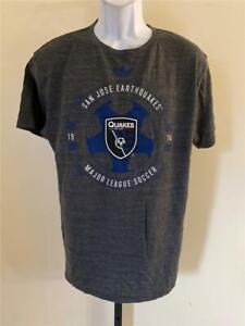 New San Jose Earthquakes Mens Size L Large Gray Adidas Shirt