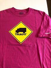 Trukfit T Shirt Men's XXXL 3X 3XL T Shirt Pink Truck Sign Logo S/S Skate Tee