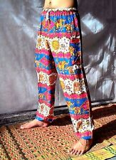Harem Pant Thai Lady Hippie Yoga 333 PINK&BLUE Baggy Gypsy Trousers Jumpsuit