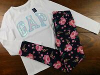 NWT GAP Girl's 2 Pc Outfit T-Shirt Logo Sequins/Leggings XS M XXL MSRP$38 New