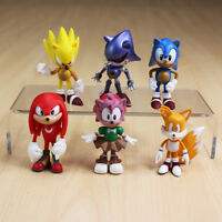 6 pcs Sonic Boom Sonic the Hedgehog Action Figures Play set Toy Doll Cake Topper