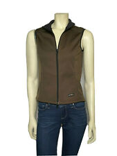 Kerrits Women's XS Full Zip Riding Vest Brown Polyester Equestrian Soft Shell