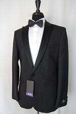 Men's Scott by The Label Black Tuxedo Dinner Suit 42l W38 L32 Aa1485