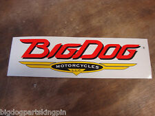 BIG DOG MOTORCYCLES VINTAGE CAR/ TRUCK WINDOW DECAL STICKER K-9 CHOPPER MASTIFF
