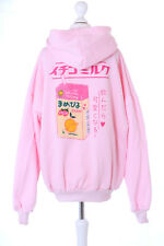TS-117 Strawberry Milk Soja Drink Rosa Pastel Goth Pullover Sweatshirt Kawaii