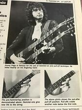1983 Vintage 1Pg Article Guitar Clinic With Jimmy Page Of Led Zeppelin Left Hand
