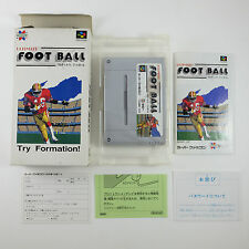 ULTIMATE FOOTBALL (Nintendo Super Famicom) Japan SFC SNES Import Complete