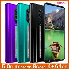 "Rino3 5.0"" Smartphone Dual SIM Facial Fingerprint Unlocked Android 9.1 4G+64G"
