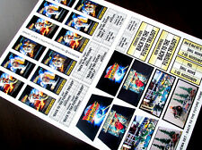 CUSTOM CINEMA STICKER SET for Lego 10232 10184 - BACK TO THE FUTURE TRILOGY