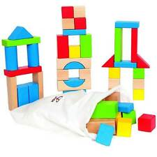 Building Blocks Set Maple 50 Piece Early Learning Wood Wooden Traditional