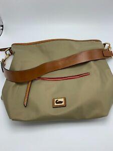 Dooney & Bourke Nylon Large Shopper Tote Khaki Bag with Dust Cover Bag