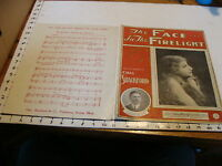 Vintage sheet music: THE FACE IN THE FIRELIGHT by Chas. Shackford, 1902