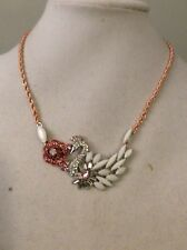 Betsey Johnson Ballerina Rose Swan Necklace $50 # A130*