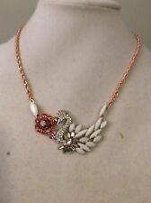 Betsey Johnson Ballerina Rose Swan Necklace $50 # A130*