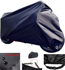 Waterproof Motorcycle Cover XXL Heavy Duty Outdoor Rain UV Protector Gift Black