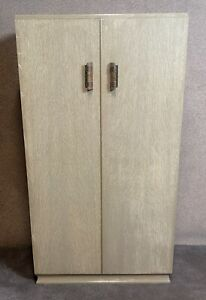 Art Deco Limed Oak Fitted Wardrobe / Tallboy / Linen Chest