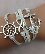 Cute Friendship Bracelet Infinity Anchor Fashion Leather Bracelet [13]