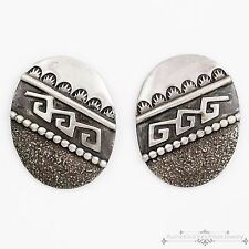 Vintage Native Navajo Pawn Sterling Silver Jimmie Patterson Overlay Earrings!