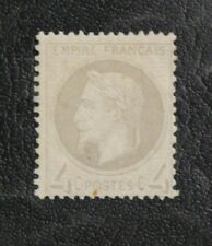 TIMBRES DE FRANCE : 1863/70 YVERT N° 27 NAPOLEON 4 CENTIMES GRIS* NEUF - TBE